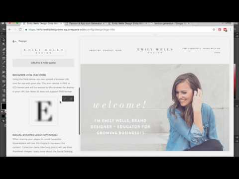 How to Add a Browswer Icon (Favicon) to your Squarespace Website