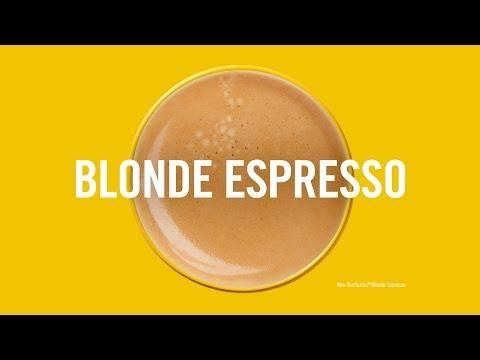Now serving: Starbucks Blonde Espresso