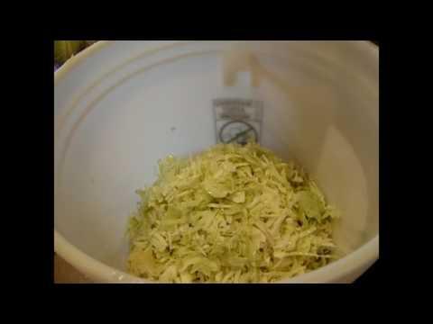Harvesting Cabbage -  Fermenting Sauerkraut