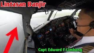 Live Cokpit Manado to Makassar Extreem Landing | Capt Edward F Limbong