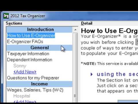 Kenyon Tax - E-Organizer Basics