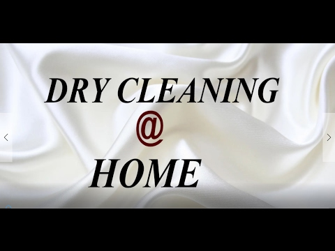 DRY CLEANING CLOTHES AT HOME.