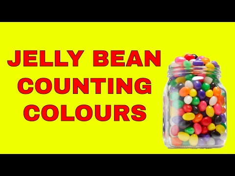 LEARN COUNTING COLOURS JELLY BEANS AND KINDER SURPRISE EGG