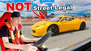 Driving $350,000 Ferrari Race Car on Public Roads! (Funny Reactions)