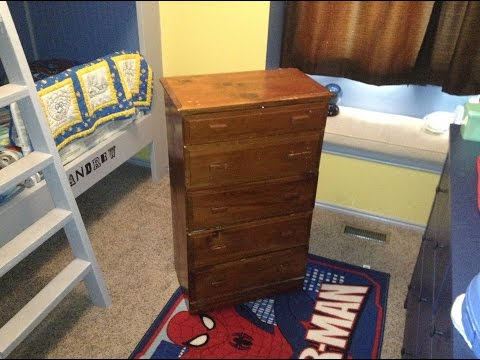 How to paint refinish an old dresser
