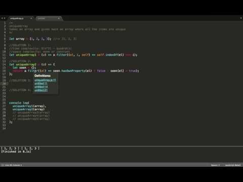 JavaScript (ES6) - Algorithms - (uniqueArray) - get rid of duplicates in an array