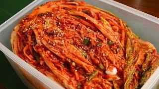 Traditional kimchi recipe (Tongbaechu-kimchi: 통배추김치)