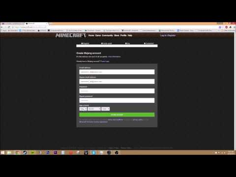 How to Register a Minecraft Account 2015