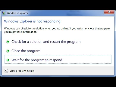 A simple fix to not responding computer programs in windows 7, windows 8, windows 10