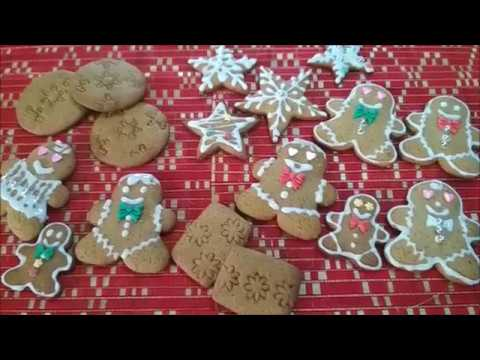 How to make | Gingerbread Cookies with Glaze Icing Decorations