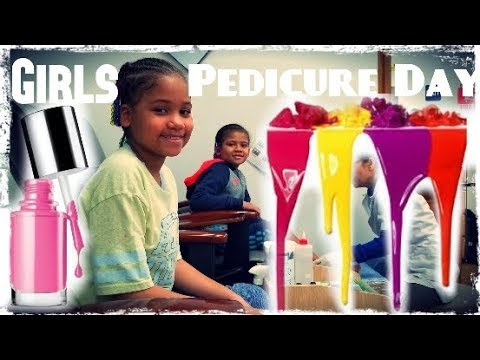 Girls Pedicure Day at Walmart on Myhouse TV