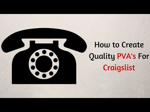 Craigslist PVA | Craigslist Phone Verification Without a Headache
