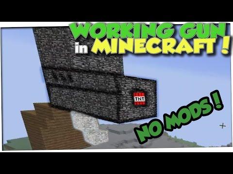 How to build a GUN in Minecraft! (300+ BLOCK RANGE!)