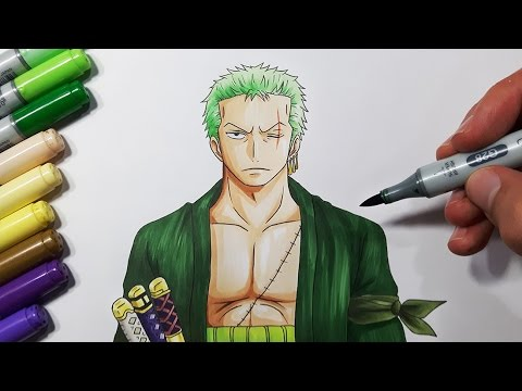 How To Draw Zoro from One Piece - Step by Step tutorial