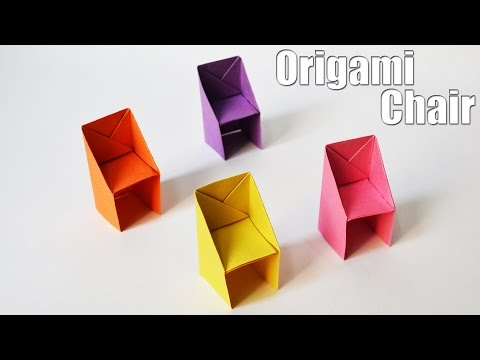 How to make an Origami Chair | Easy | Tutorial