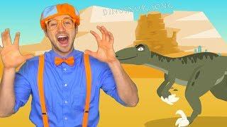 Blippi Volcano and Dinosaur Song   Science for Children