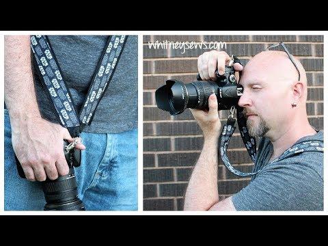 DIY Camera Strap - EASY TO PERSONALIZE | Whitney Sews