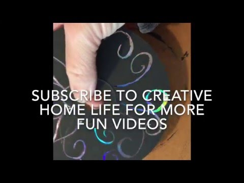 Fun cd scratch artwork craft