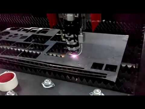 Fusion Machinery - 500W fiber optic laser cut thin stainless steel sheet