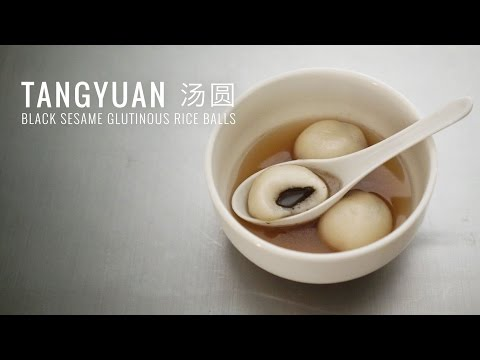 Chinese New Year - Tangyuan 汤圆 - Black Sesame Glutinous Rice Balls