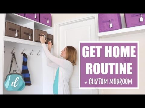 GET-HOME ROUTINE   Custom Mudroom Ideas & Tips