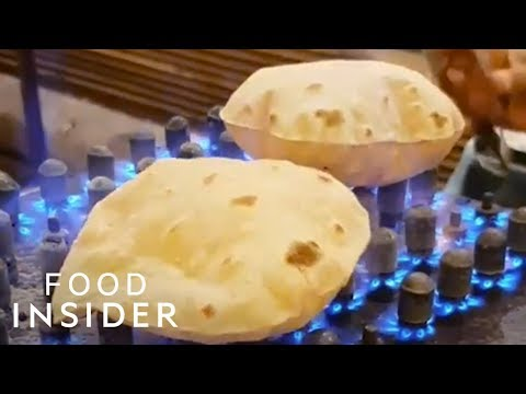Indian Flatbread Puffs Up When Cooked