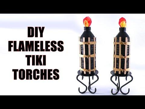 DIY Flameless Tiki Torches - How to Make Flameless Tiki Torches