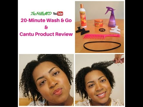 Easy 20-Minute Wash & Go ft. Cantu Curl Activator and Shine & Define Custard