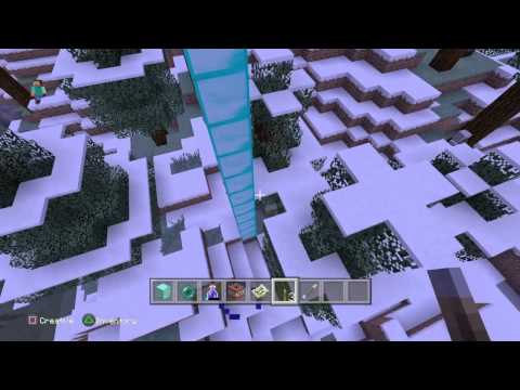 Minecraft PS4 Perfect Seed: 2 villages, jungle temple and amazing mountain formation