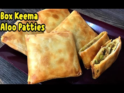 Keema Aloo Box Patties /mince parcels/make and freeze for month/ Ramadan Recipes By Yasmin's Cooking