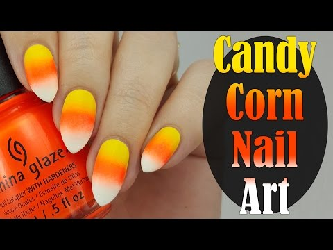 Easy Candy Corn Halloween Nails For Beginners