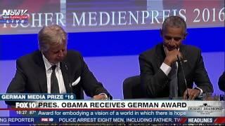 "HAHA: German Leader Quotes Rap Song, Calls Former President ""No Drama Obama"" (FNN)"