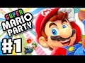 Super Mario Party - Gameplay Walkthrough Part 1 - Intro and Whomp's Domino Ruins! (Nintendo Switch)