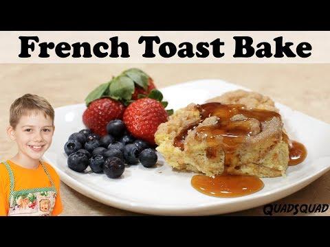French Toast Bake - Delicious Overnight  Breakfast Casserole