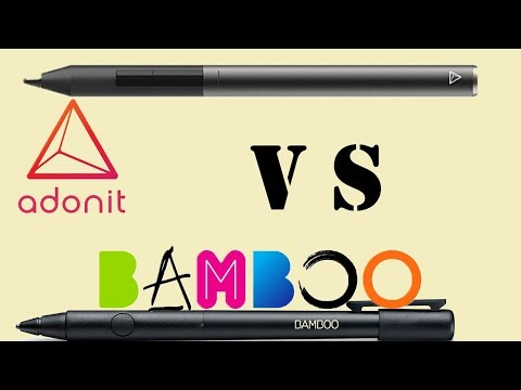 Adonit pixel vs Wacome Bamboo Fineline 2 vs Bamboo finline 3 I Ipad mini writing