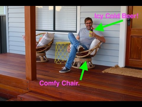 How to Build a Deck. DIY Deck Frame and Decking Boards.