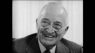 MP2002-300 Former President Truman Discusses 1948 Campaign and Other Presidents in History