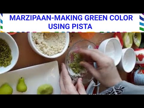Marzipan-Green Color Making From Pistachio (Pista)