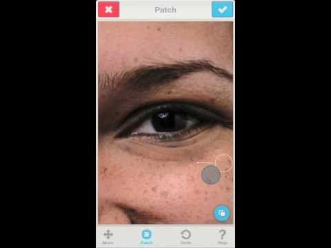 Facetune: Remove or Attenuate Strong Eye Bags