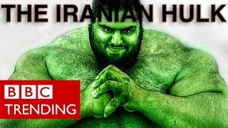 Iranian Hulk Sajad Gharibi signs up to fight in Syria - BBC Trending