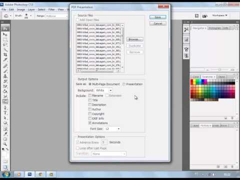 How to convert jpg to pdf by photoshop