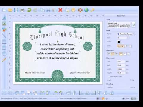 How to create and print High School Diploma