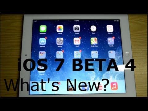 iOS 7 Beta 4 - What's New
