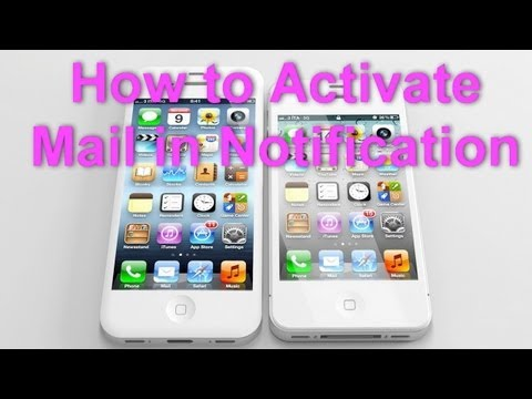 iPhone 4S - Activate Mail in Notification - Preview