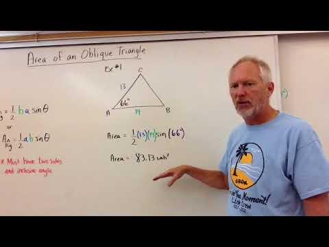 Area of Oblique Triangle