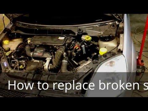 FORD FIESTA 2002-2008 1,4TDCI front suspension broken spring replacement