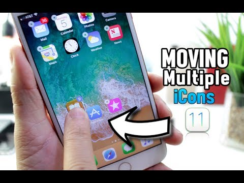 How to Move multiple Apps at once iOS 11