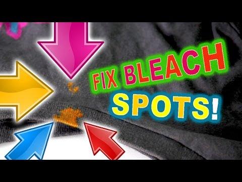 Fix bleach spots on clothing - Easy DIY