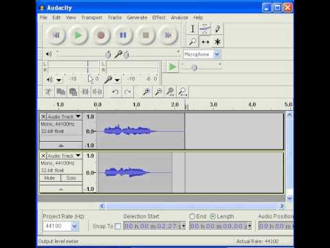 HOW TO MIX AUDIO TRACK IN AUDACITY Beta 1.3