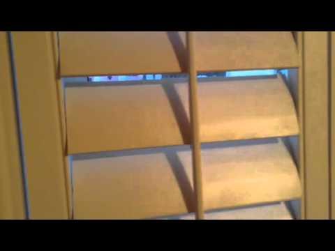 Homemade plantation shutters
